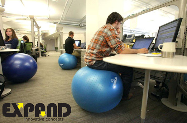 Replace your office chair with balance ball